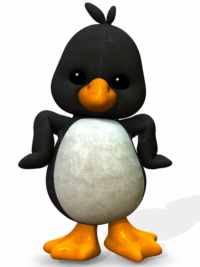 Cute Duck - Toon Figure royalty free illustration