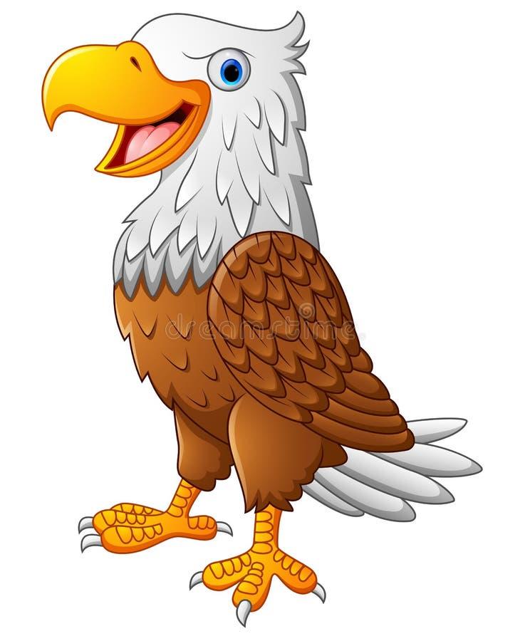 Cute eagle cartoon stock illustration