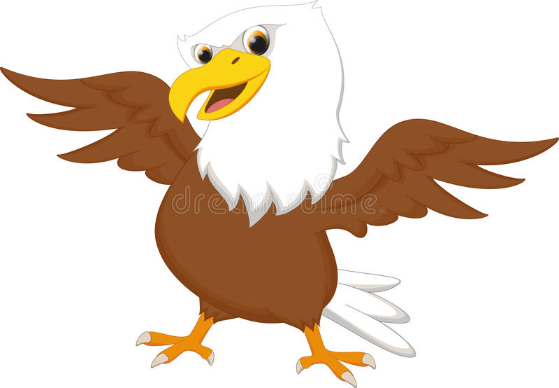 Cute Eagle Cartoon Stock Vector