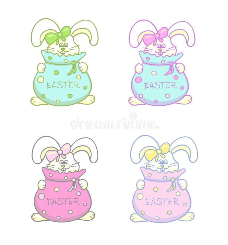 Cute Easter attributes royalty free stock photos