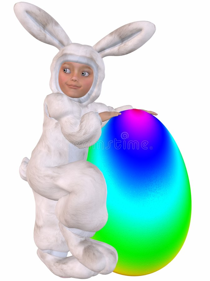 Download Cute Easter Bunny With Egg stock illustration. Illustration of cute - 7790774
