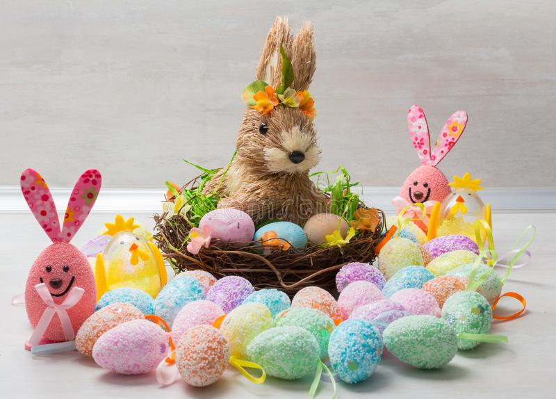 Cute Easter decoration royalty free stock images