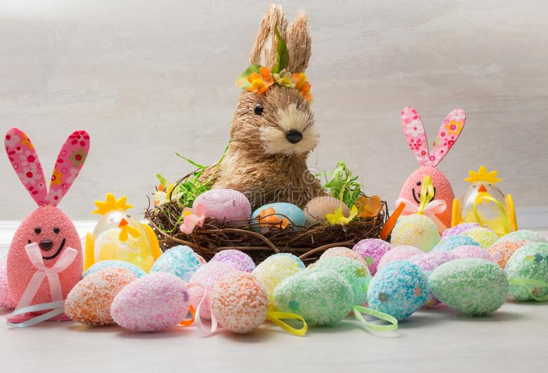 Cute Easter decoration stock photo