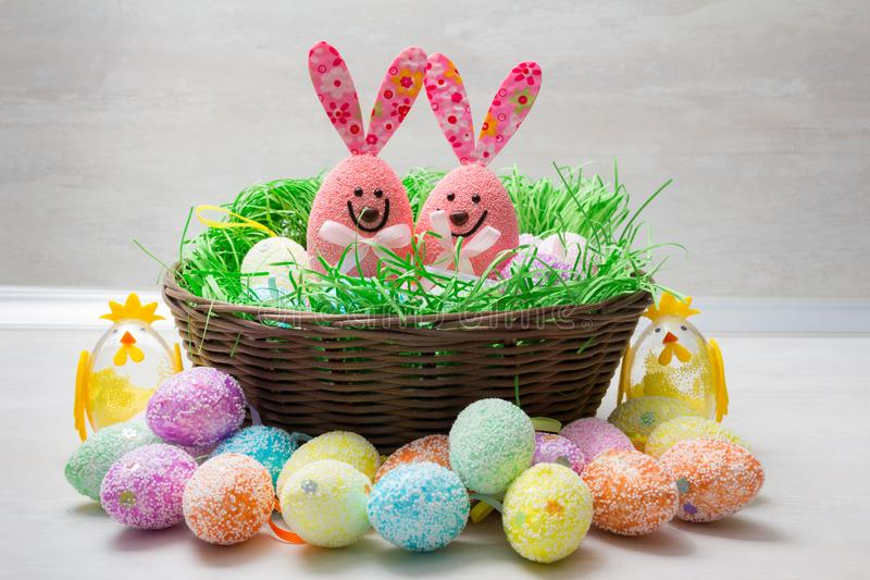 Cute Easter decoration stock photos