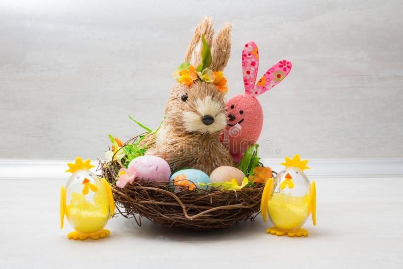 Cute Easter decoration stock images