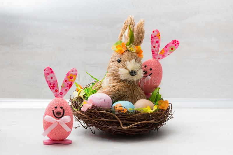Cute Easter decoration royalty free stock photography