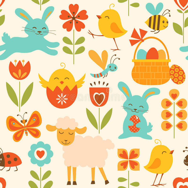 Download Cute Easter pattern stock vector. Illustration of background - 29016188