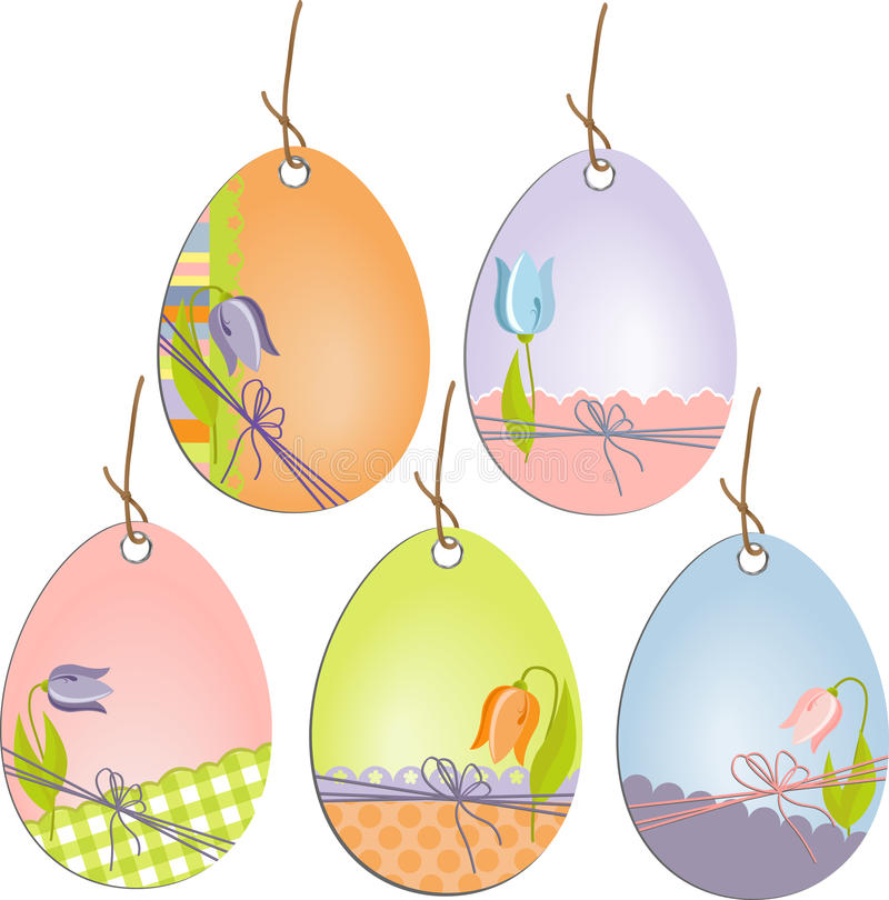Download Cute Easter Scrapbooking Tags Stock Vector - Image: 19507811