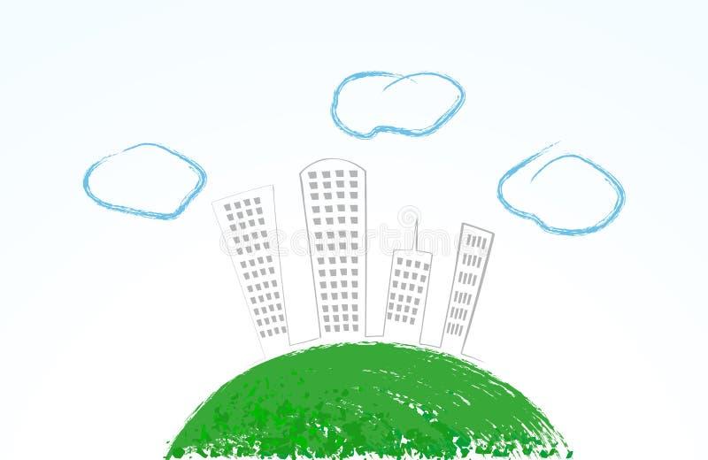 Download Cute eco city stock vector. Illustration of landscape - 13631178