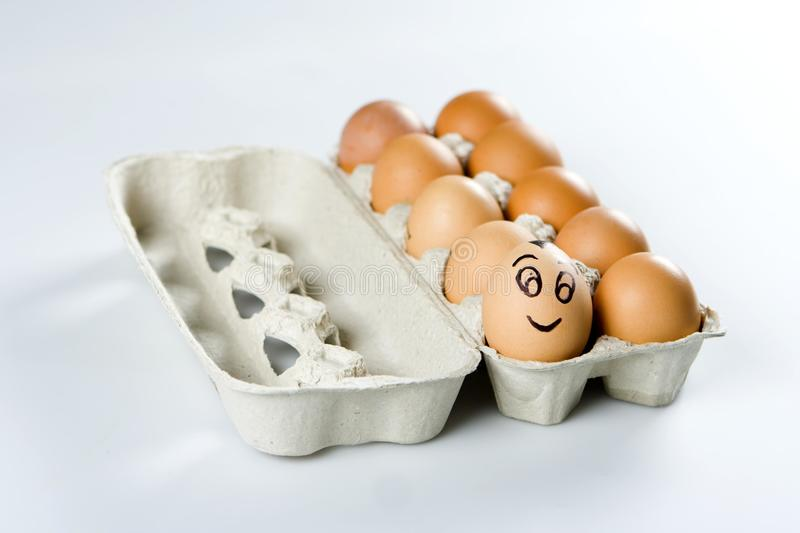 Download The cute egg among others stock image. Image of packing - 15195229