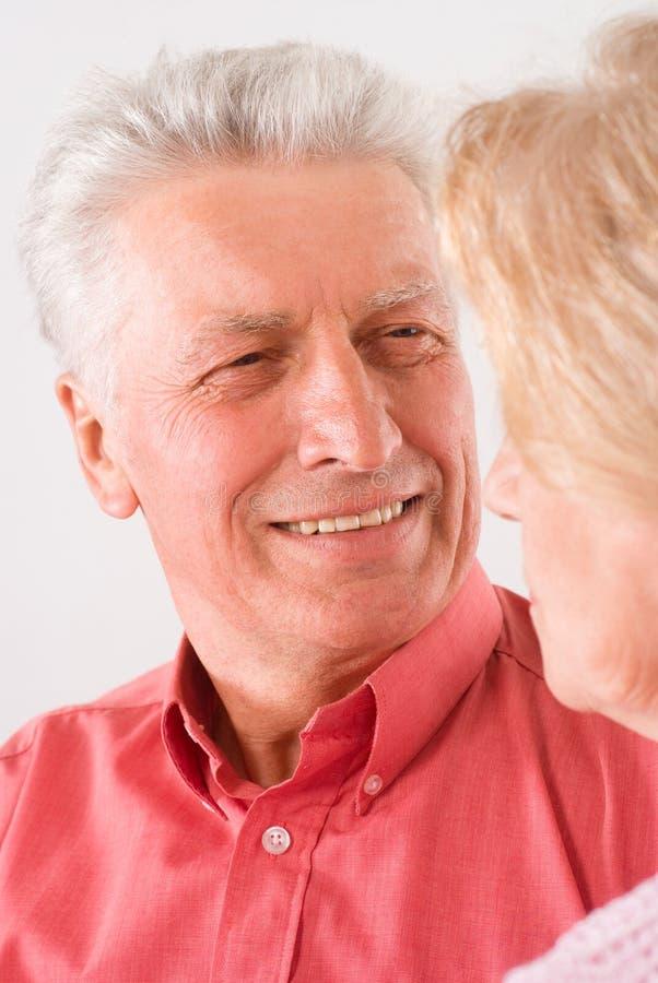 Download Cute elderly couple stock photo. Image of shoulders, senior - 20522892
