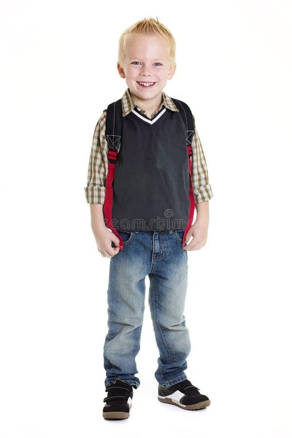 Cute Elementary School Boy Isolated stock photos
