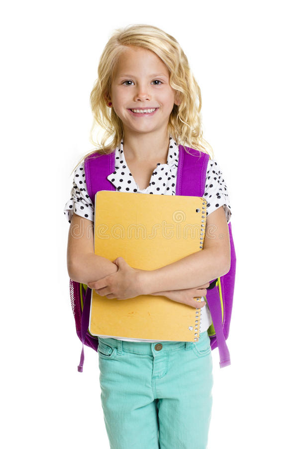 Cute Elementary School Girl royalty free stock photography