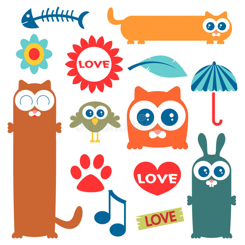 Download Cute elements for design stock vector. Image of childish - 27208806