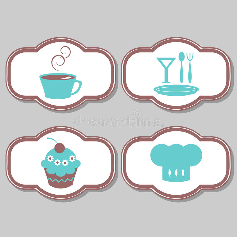 Download Cute Elements For Restaurant Stock Vector - Illustration of coffee, delicious: 25423093