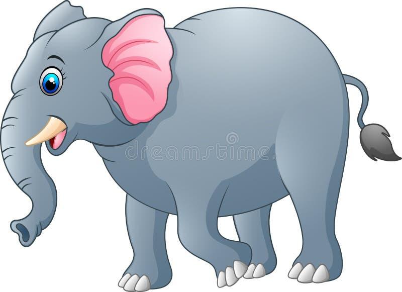 Cute elephant cartoon royalty free illustration