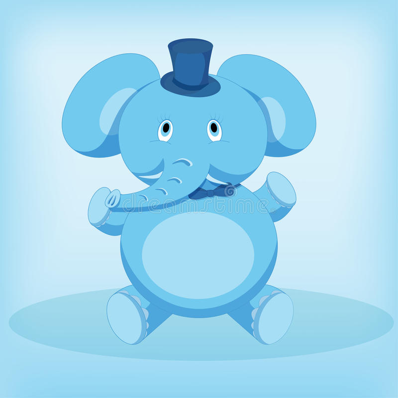 Cute elephant cartoon sitting stock photo