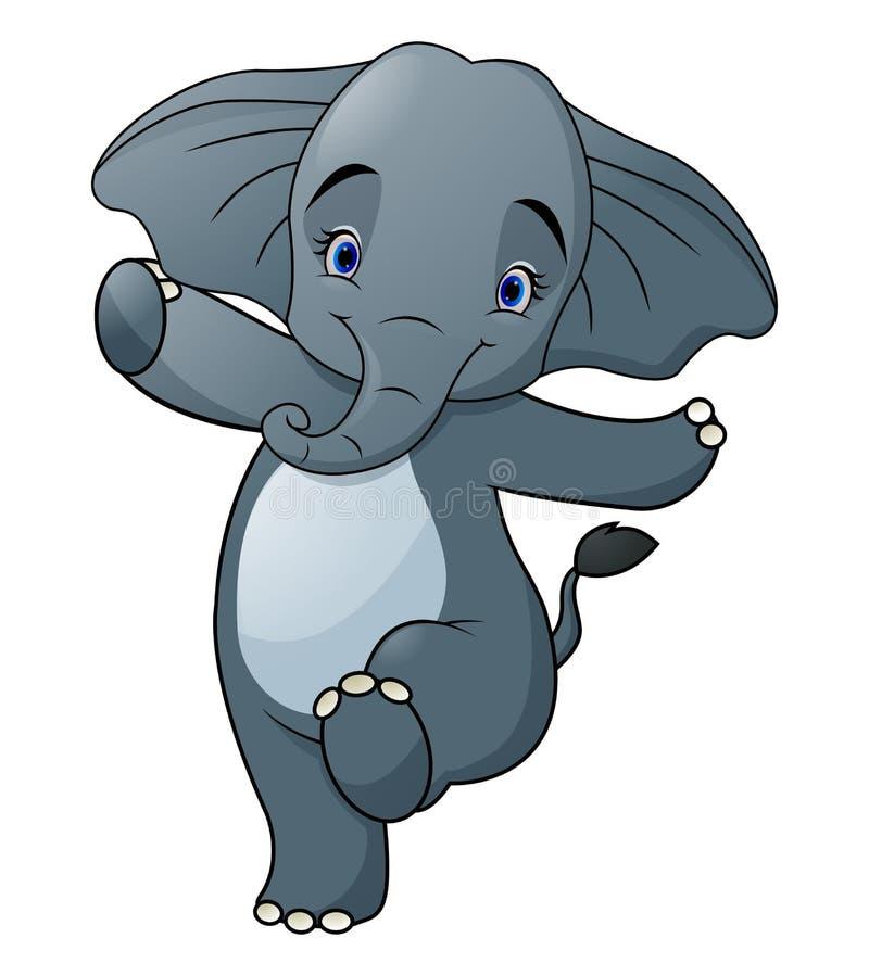 Cute Elephant cartoon  walking royalty free illustration