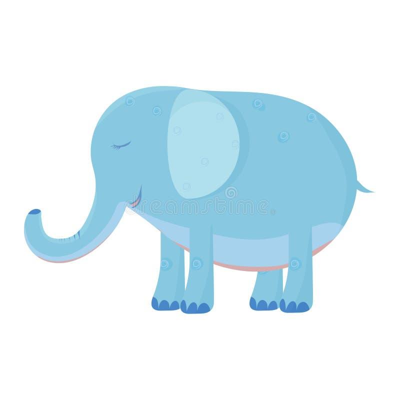 Cute elephant illusration vector stock royalty free illustration