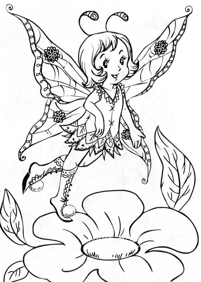 Download Cute elf stock illustration. Image of flying, fantasy - 29024334