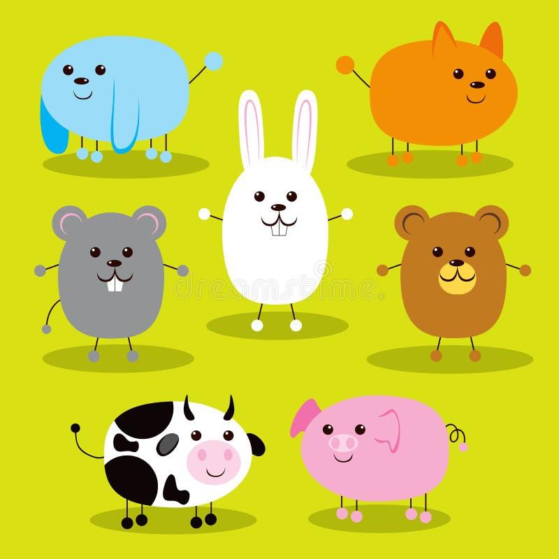Cute Ellipse Animals royalty free illustration