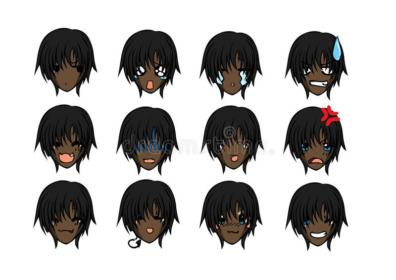 Cute emoticon style. Cool emoticons that can be used for your vector illustration