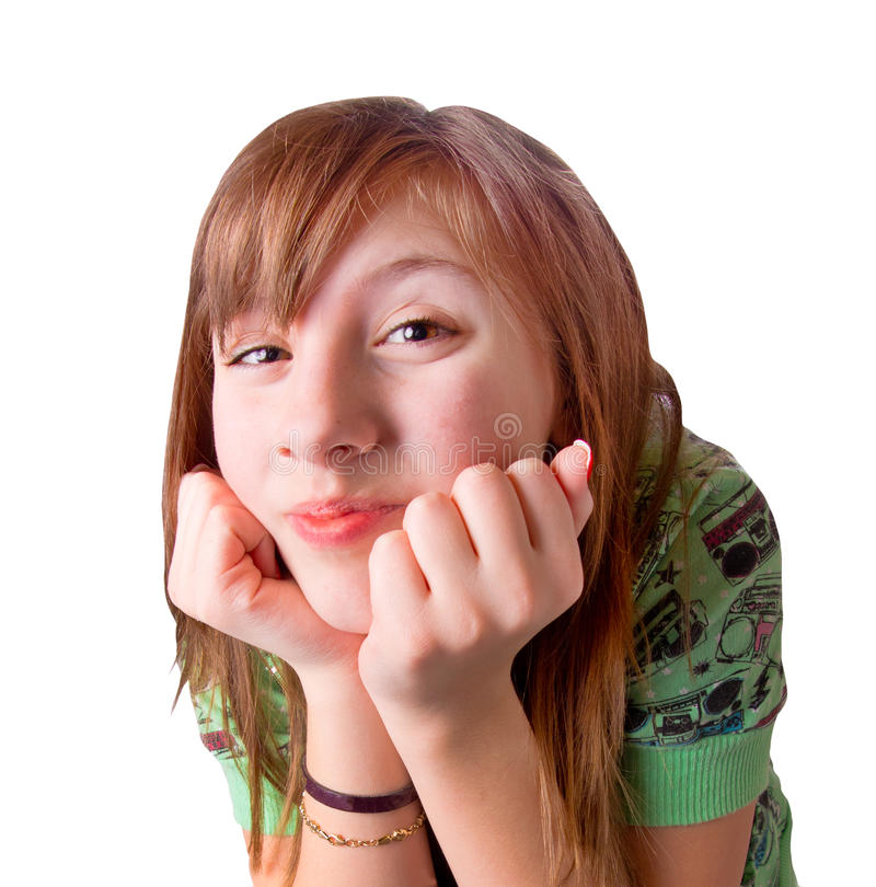 Download Cute and Excited Girl stock image. Image of caucasian - 18288095