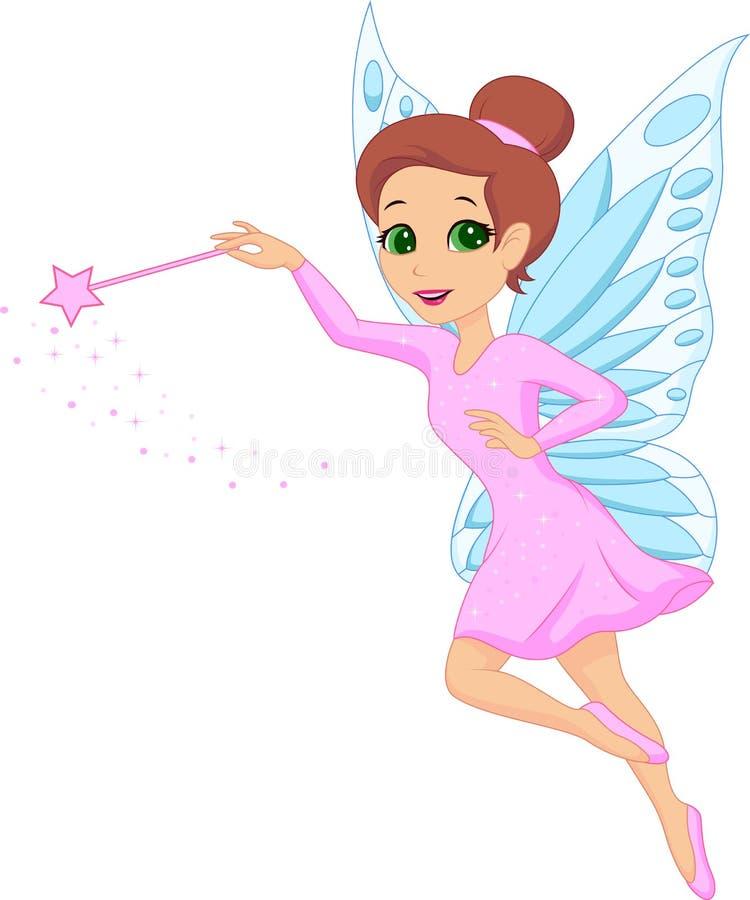 Cute fairy cartoon royalty free illustration