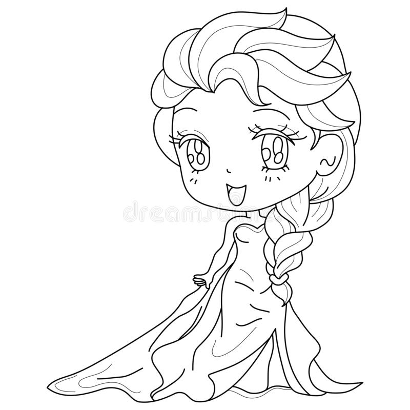 - Cute Fairy-tale Princess On A White Background For Kids Coloring Book,  Vector Illustration Stock Vector - Illustration Of Book, Kids: 159087870