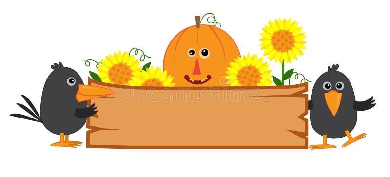 Cute Fall Sign vector illustration