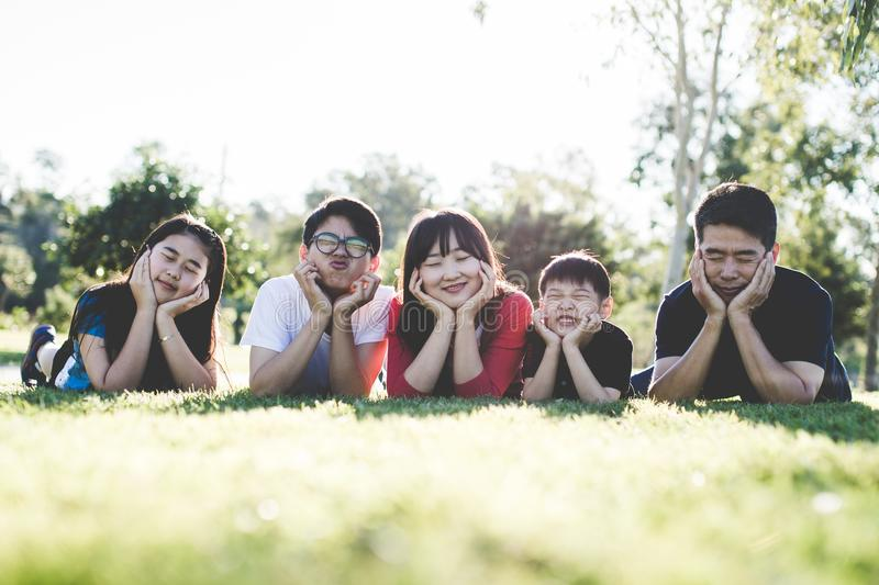 Cute Family Picture stock image