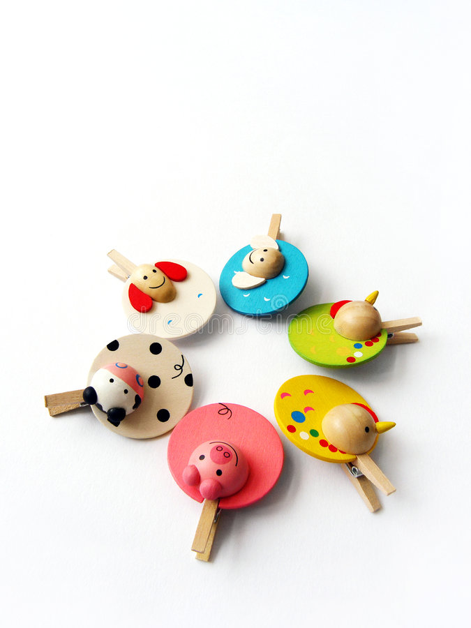Free Cute Farm Animal Pegs Royalty Free Stock Image - 6121036