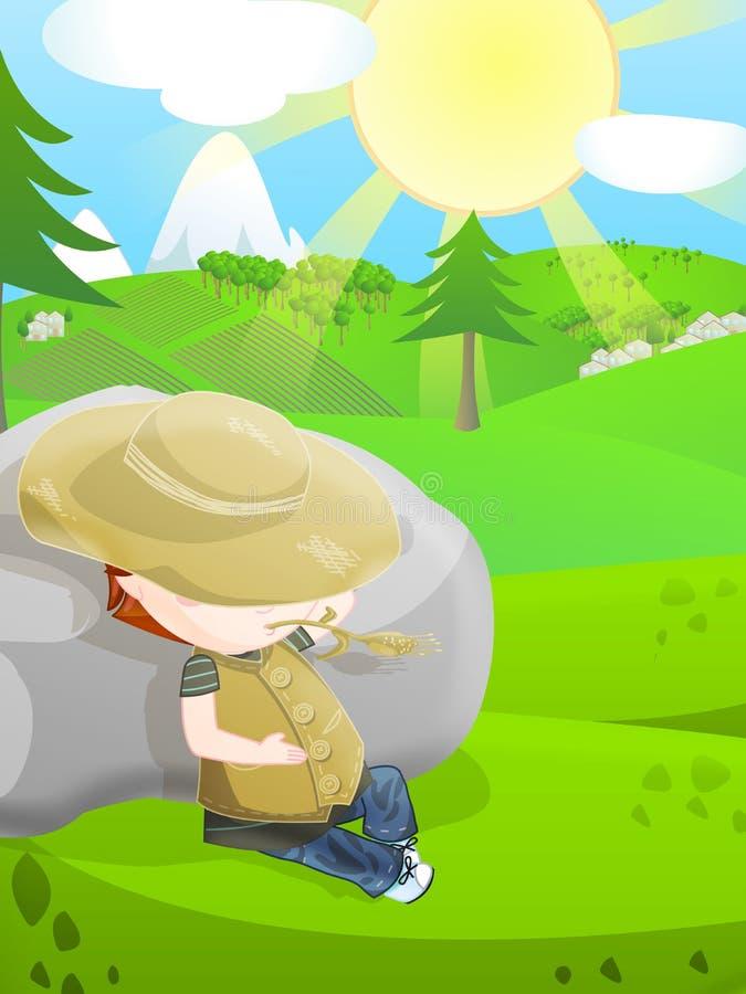 Download Cute farmer stock illustration. Illustration of artwork - 24626885