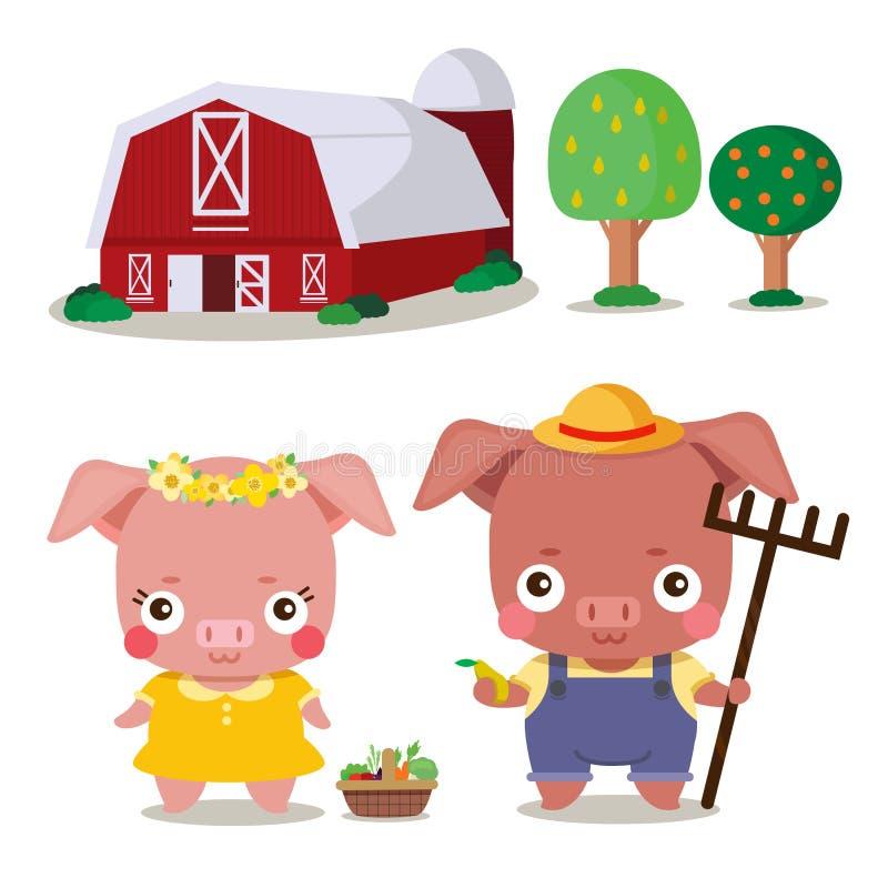 Cute farmer in farm royalty free stock photos