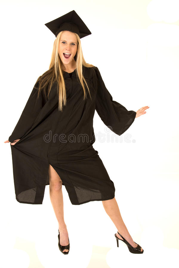 Cute Female Model In Graduation Cap And Gown Celeb Stock Image ...