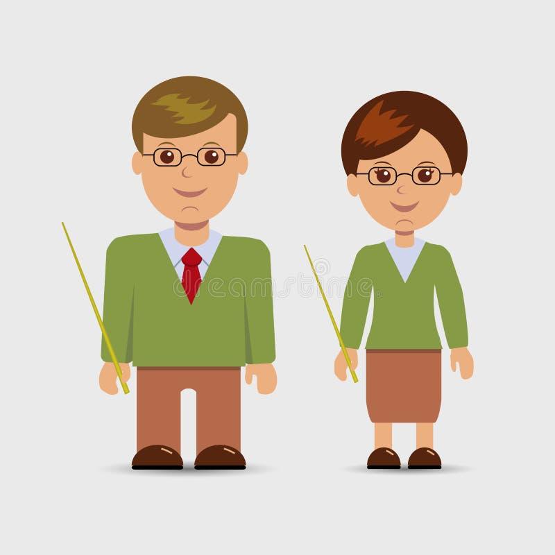 Cute Female Teacher stock vector. Illustration of ...