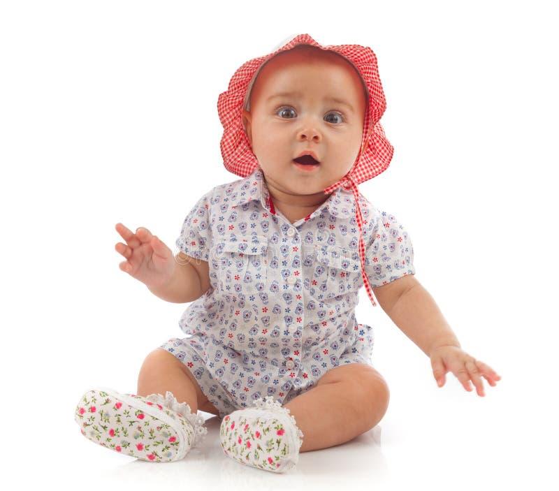 Cute female toddler stock image
