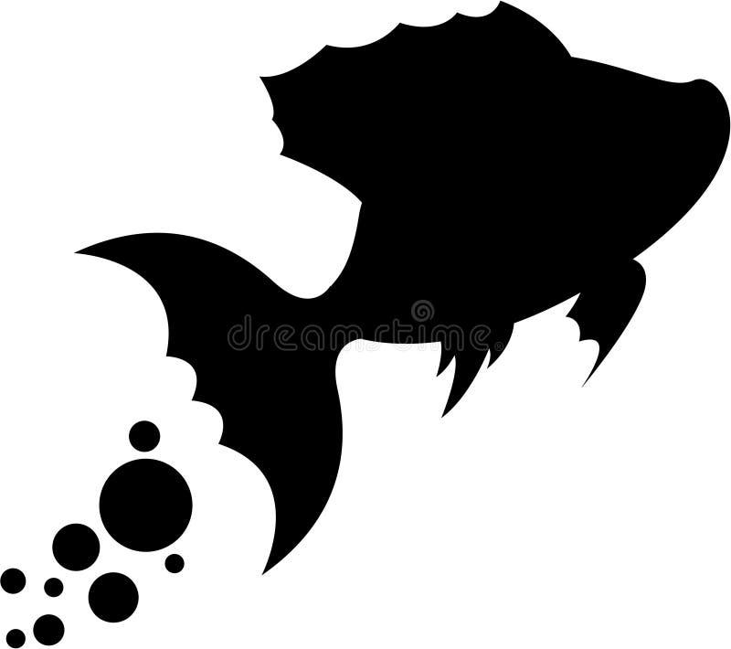 Cute Fish Silhouette vector illustration