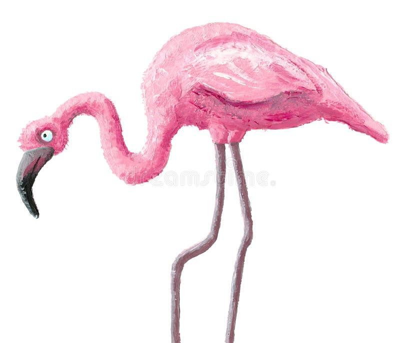 Cute flamingo. Acrylic illustration of cute flamingo vector illustration