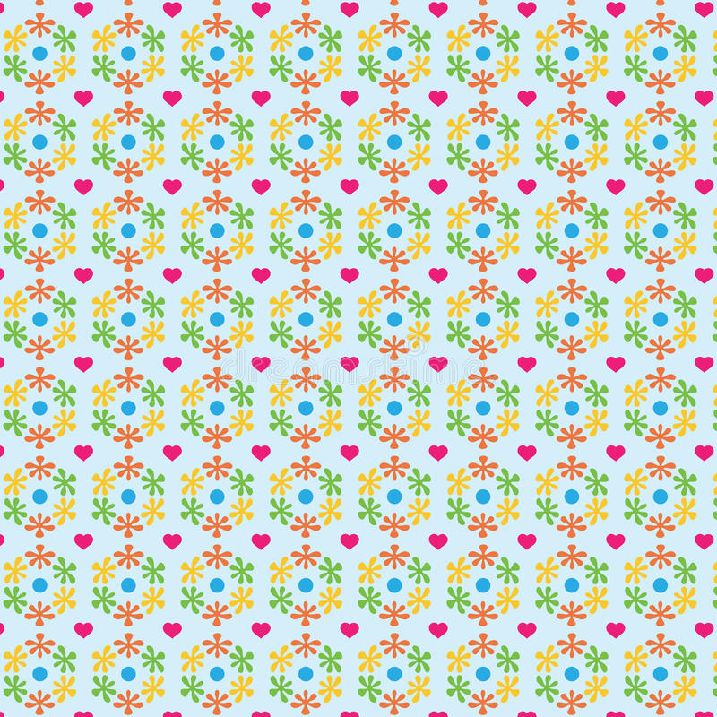 Cute Flora Abstract Background Pattern stock illustration