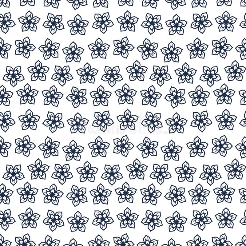 Cute Floral pattern in the small flower. Motifs scattered random. Seamless vector texture_1 royalty free illustration