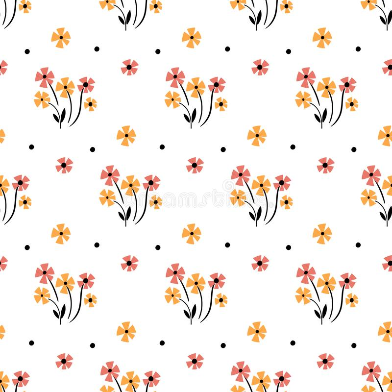 Cute Floral pattern in the small flower. Motifs scattered random. Seamless vector texture. Elegant template for fashion prints. Printing with very small pink vector illustration
