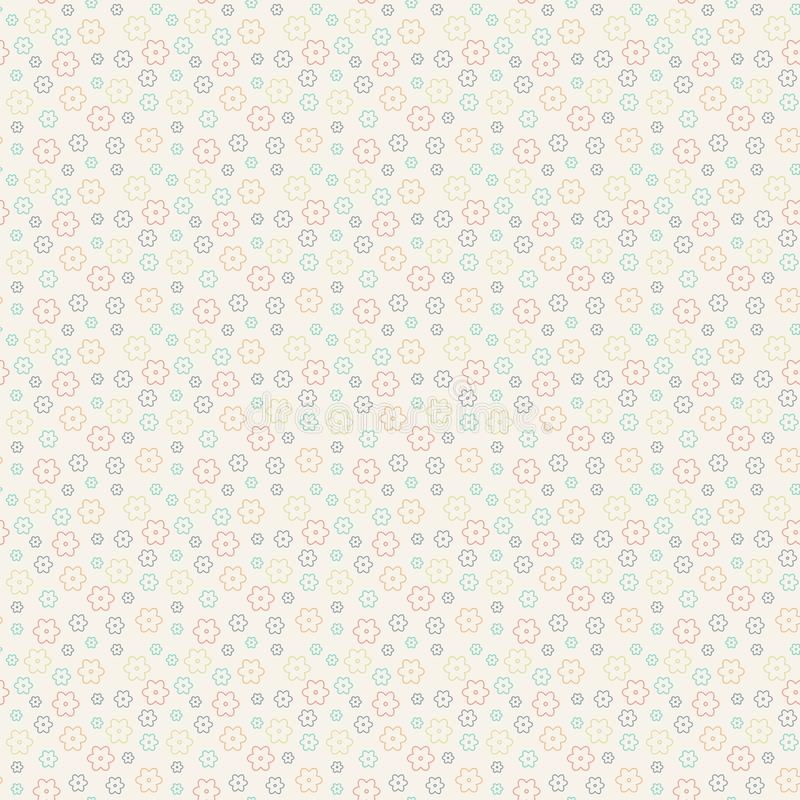 Cute floral pattern in the small flower. Seamless vector texture. royalty free illustration
