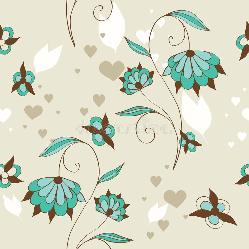Free Cute Floral Seamless Stock Photography - 21312382