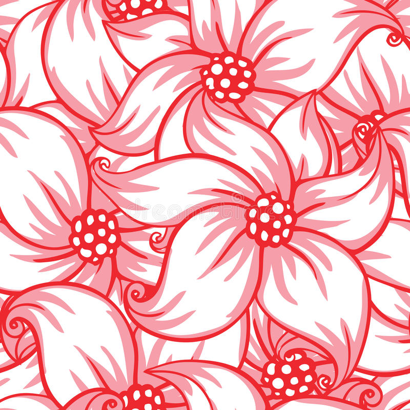 Cute floral seamless pattern vector illustration