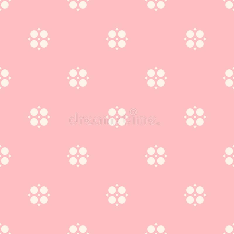 Cute floral seamless pattern for girls in trendy pastel colors. Cute vintage seamless pattern for girls in trendy pastel colors, pink and beige. Vector abstract vector illustration