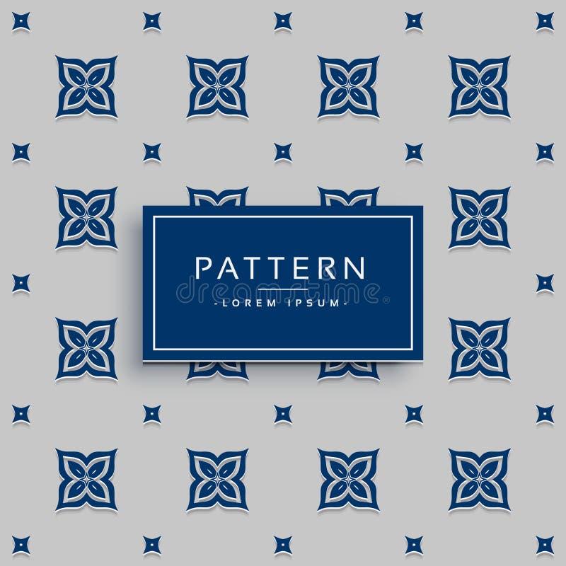 Cute flower pattern design on gray background royalty free illustration