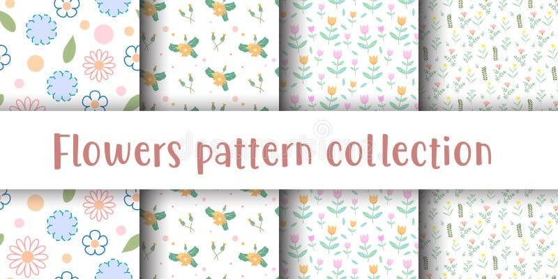 Cute flower seamless pattern иллюстрация штока