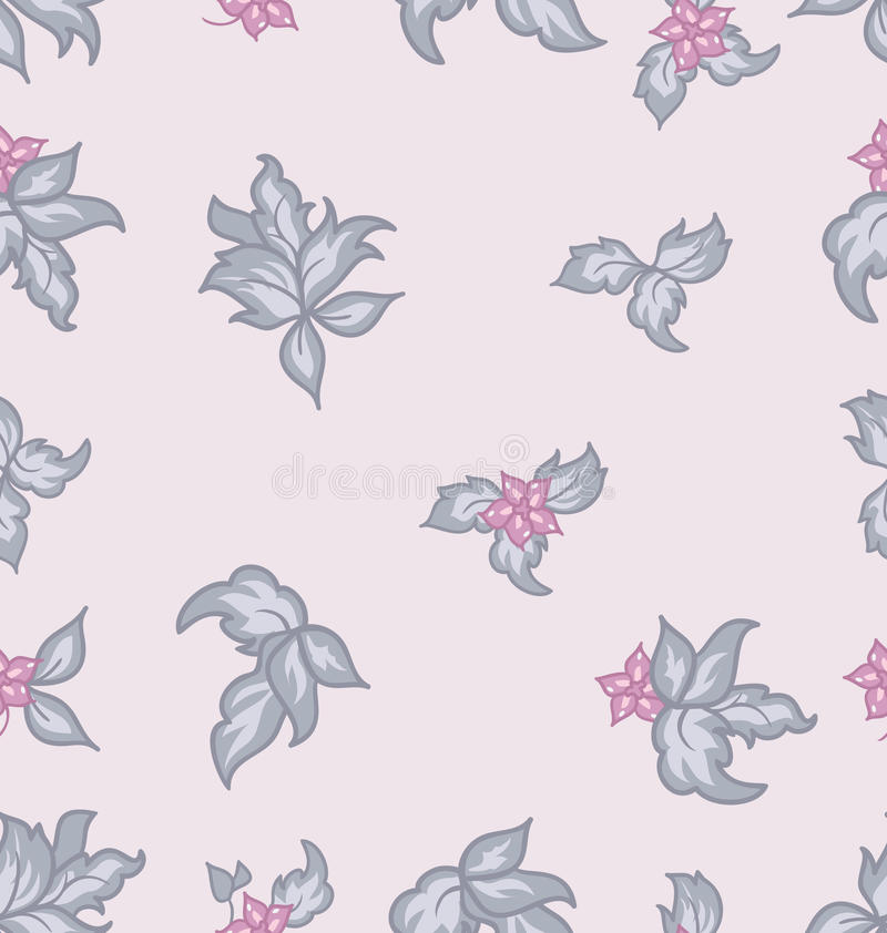 Download Cute Flower Vintage Seamless Background Stock Vector - Illustration of elements, repeat: 26200879