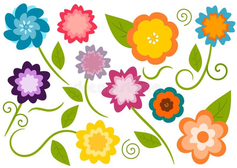 Cute flowers vector illustration